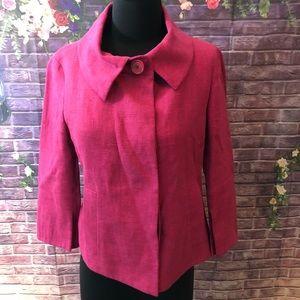 Akris Punto Mod Style Pink Linen Jacket 6